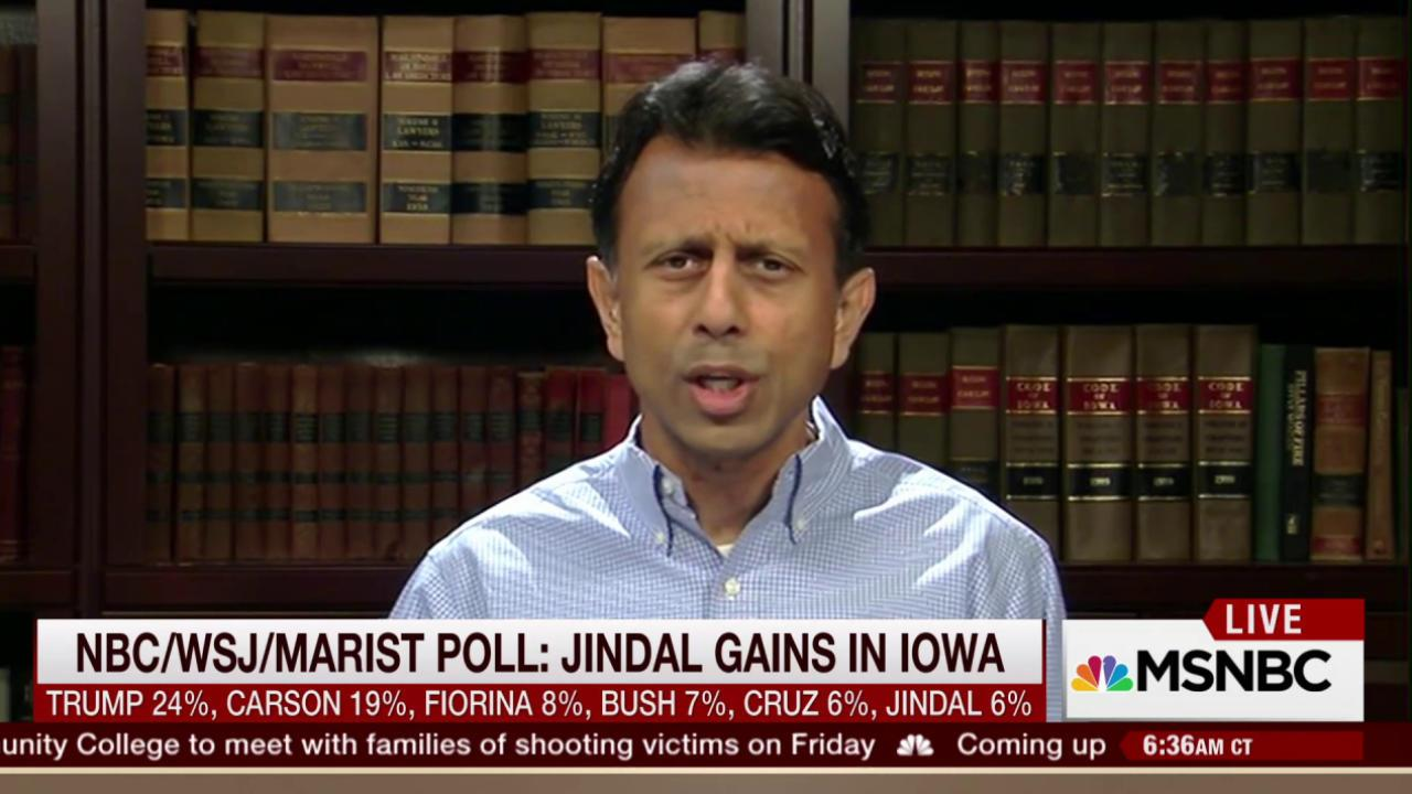 Bobby Jindal says movement building in Iowa