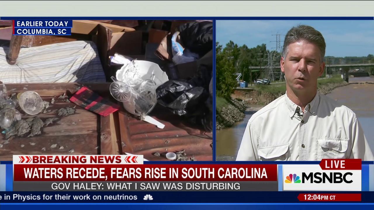 Waters recede, fears rise in SC