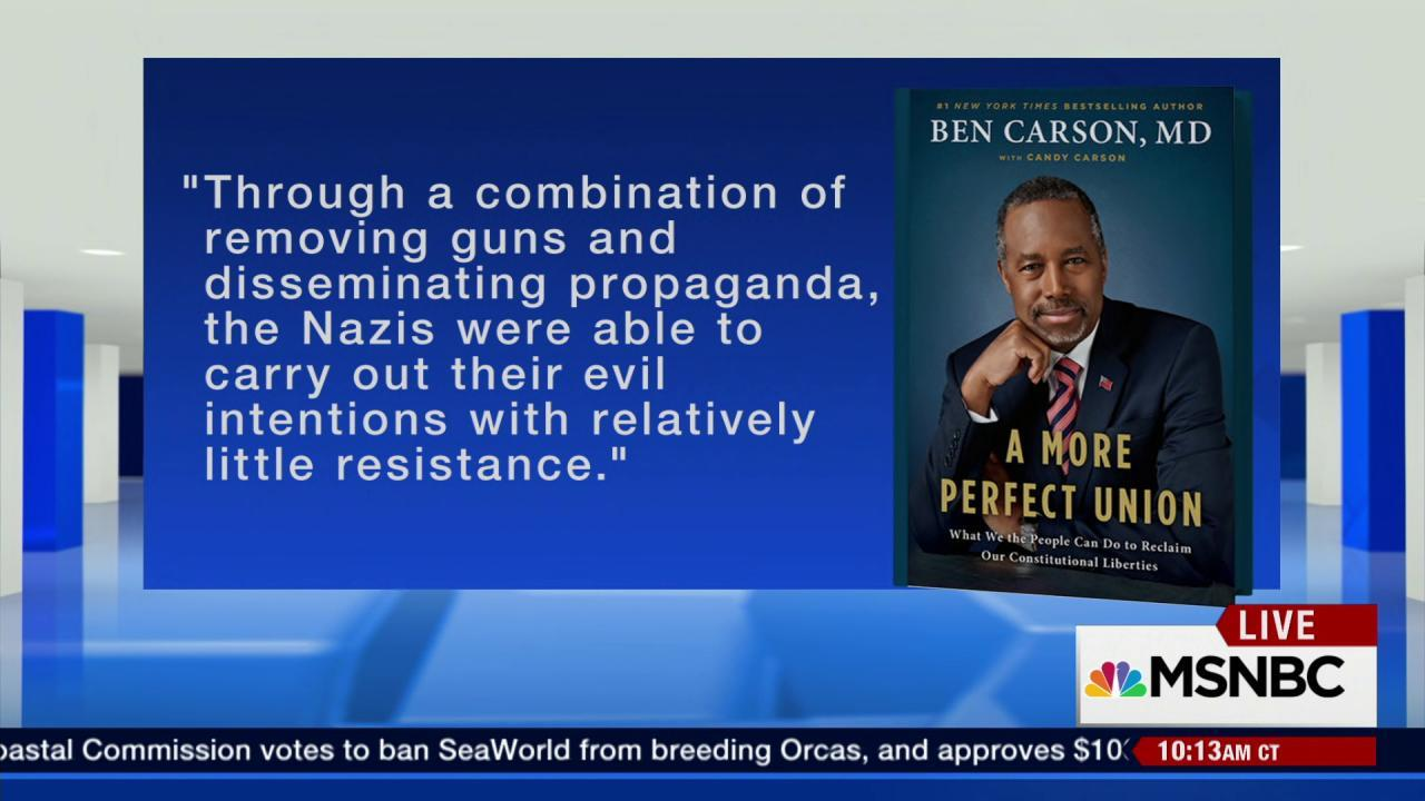 Ben Carson's controversial Holocaust comments