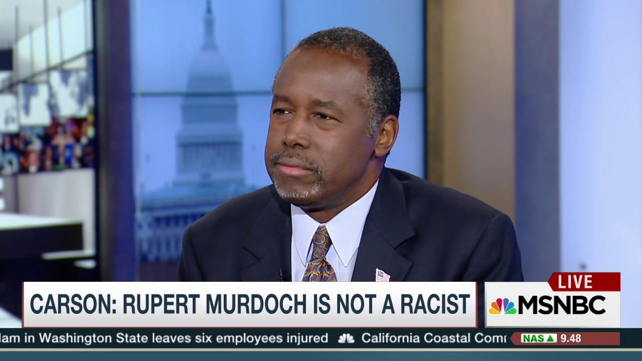 Carson: Putin is an ambitious guy'