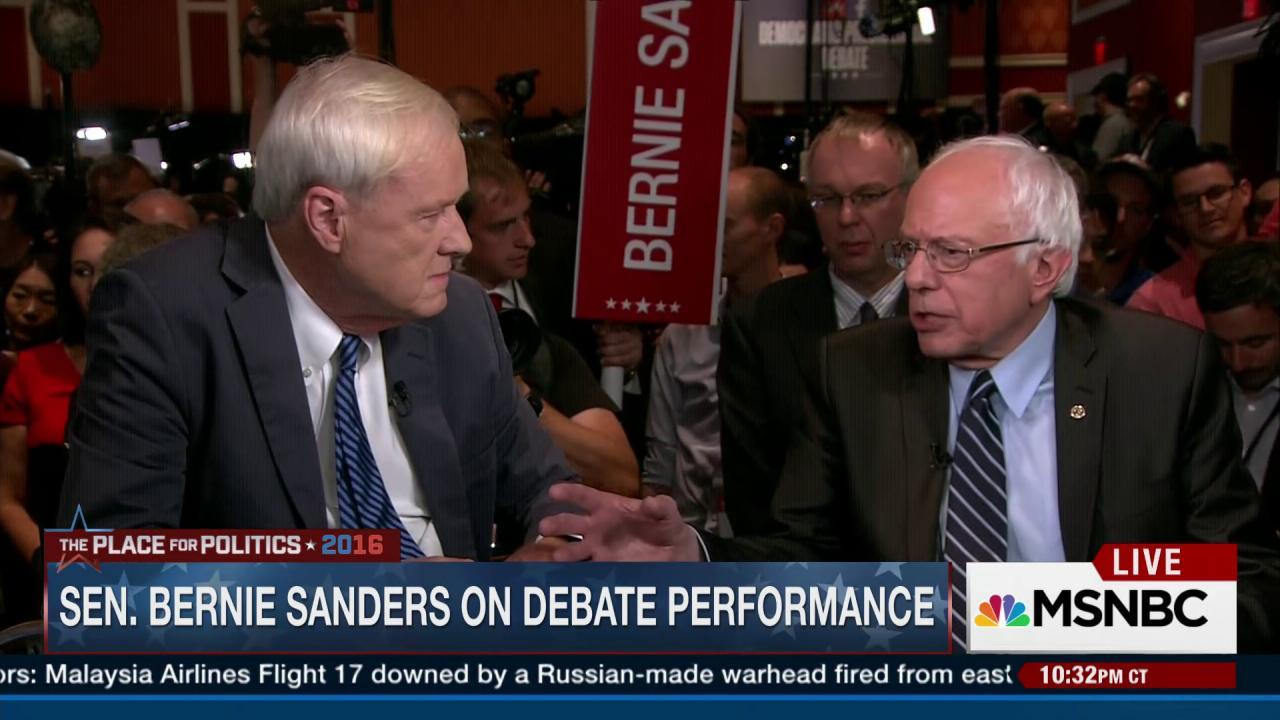 Sanders: 'I don't represent the...