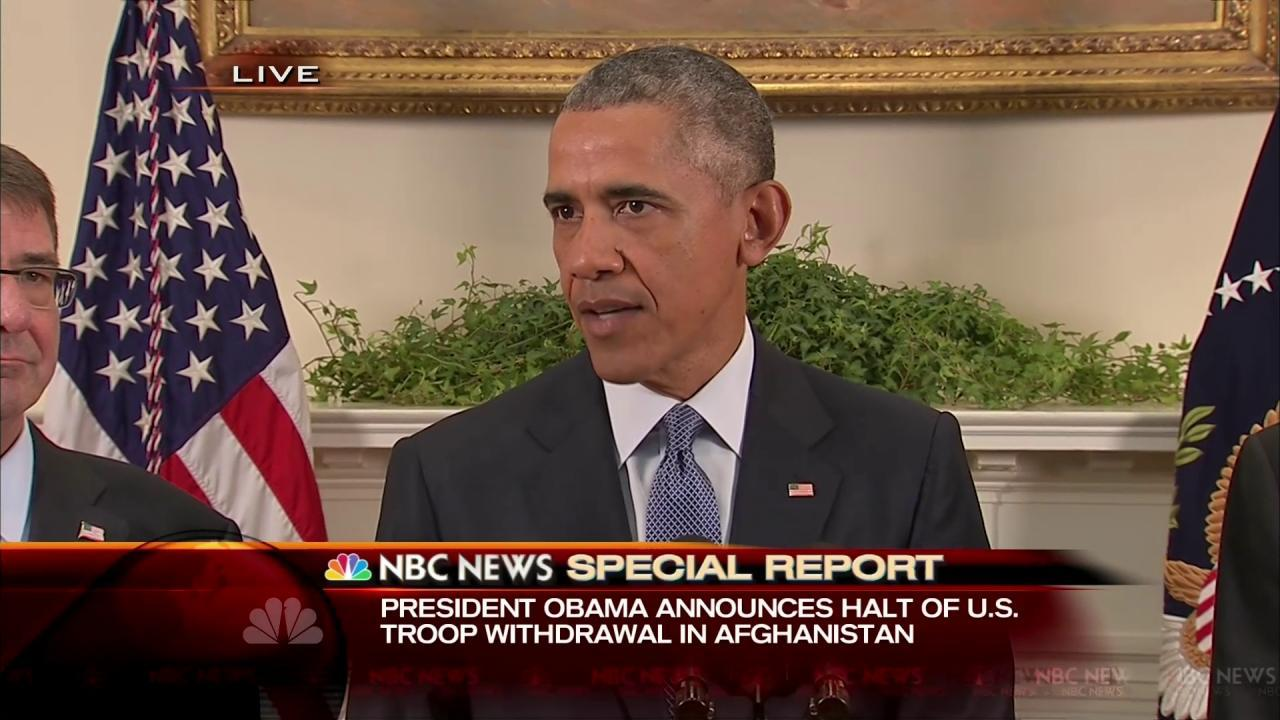 'The Right Thing to Do': Obama Backs Off Afghanistan Withdrawal Plan