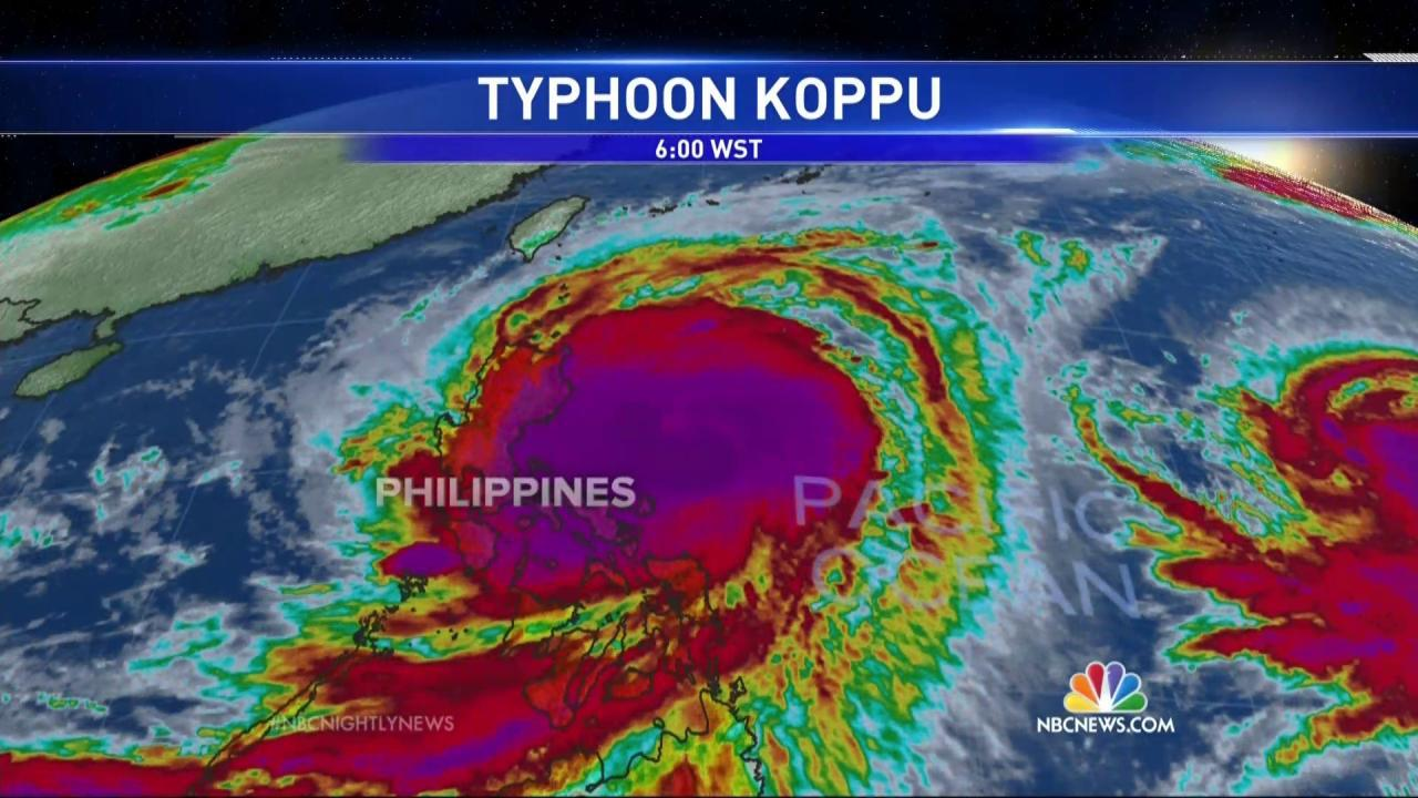 Philippines Bracing for Direct Hit From Massive Typhoon