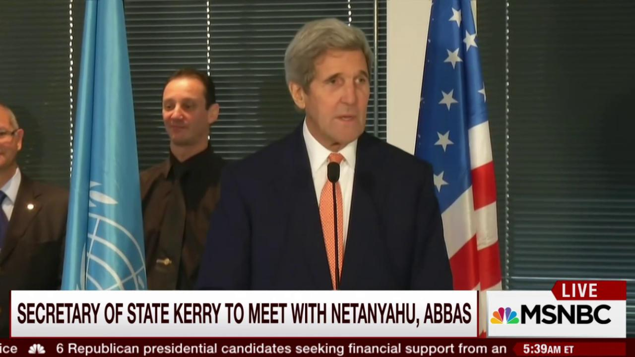 Kerry to meet with Israeli, Palestinian...