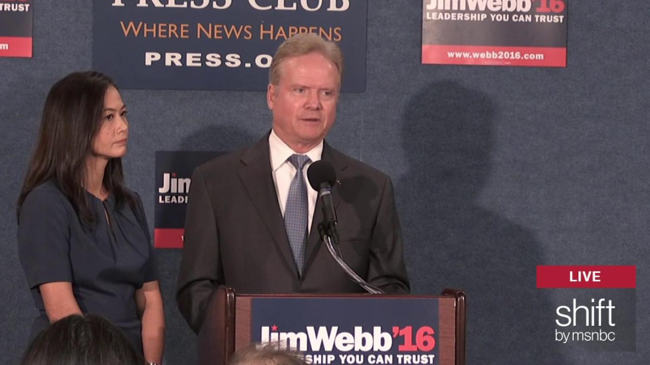 Jim Webb drops out of Democratic race