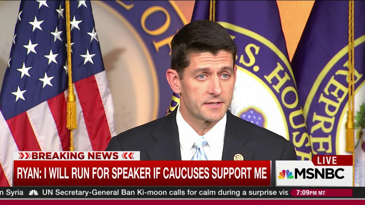 Ryan sets condition of unified GOP support
