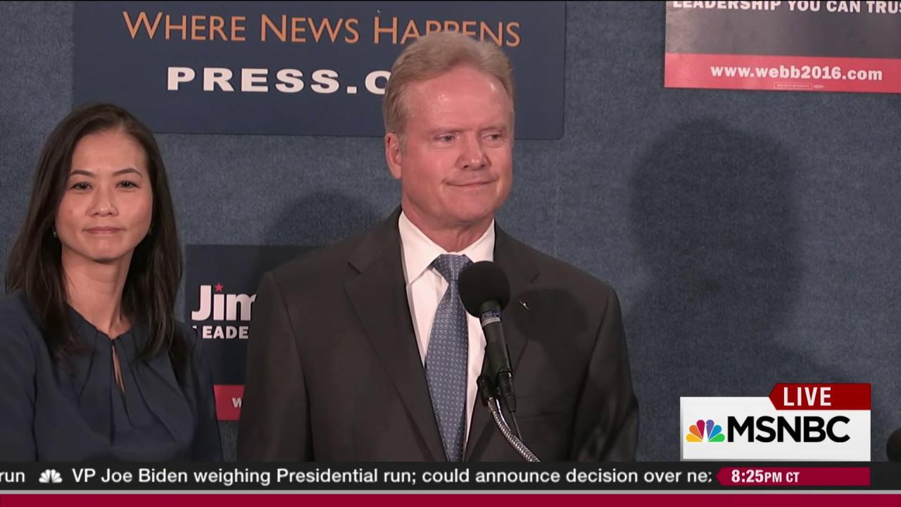 Webb leaves Democrats, takes 'blip' with him
