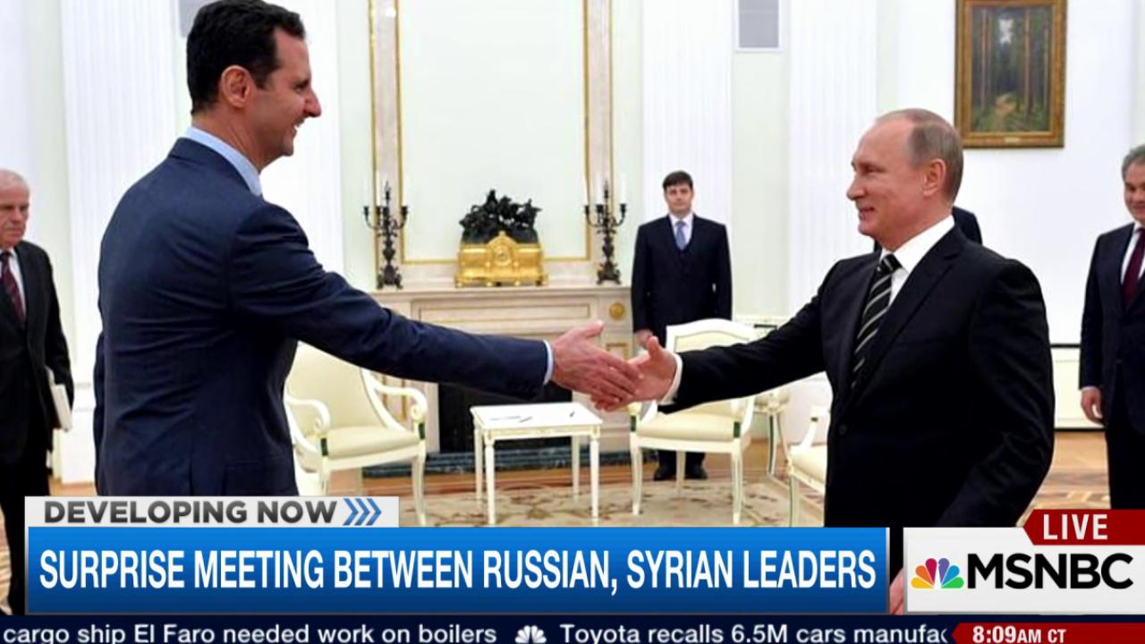 Surprise meeting between Putin, Assad