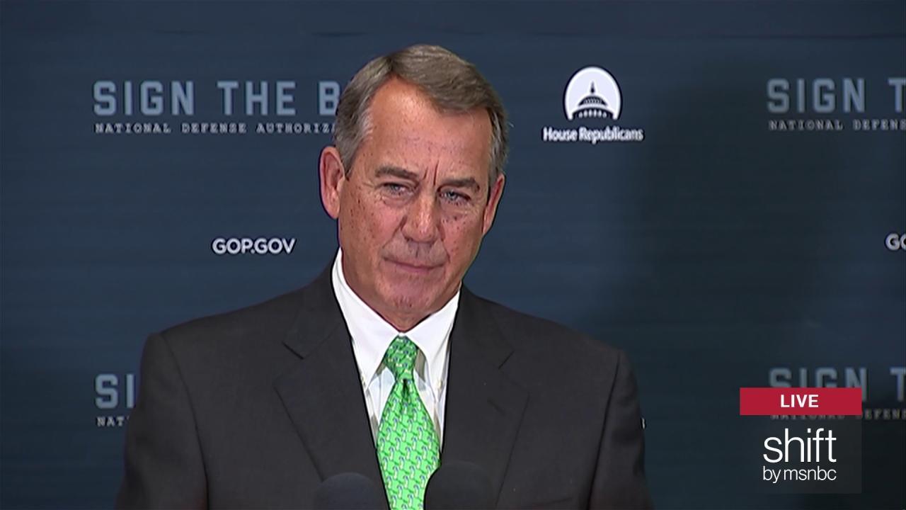 Boehner: Ryan would do fine