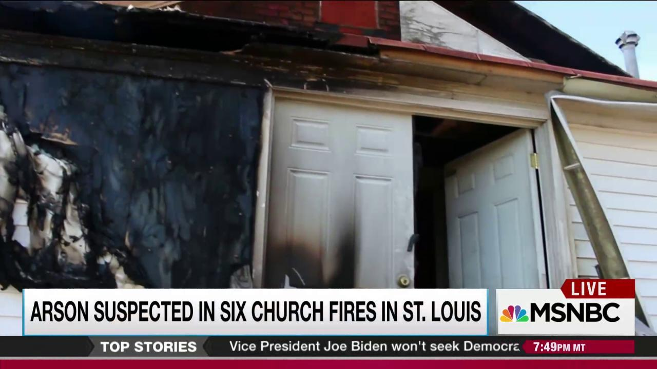 Arsonist attacks black churches in St. Louis