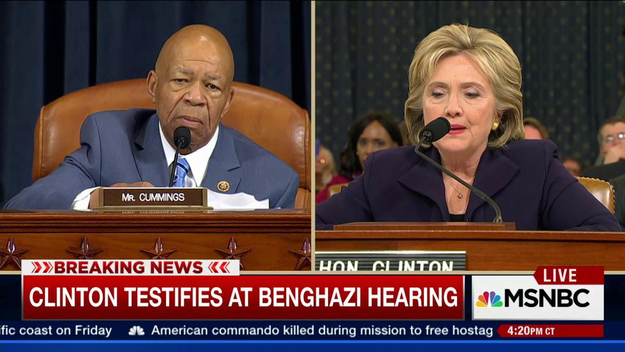 Cummings asks Clinton about Panetta's role