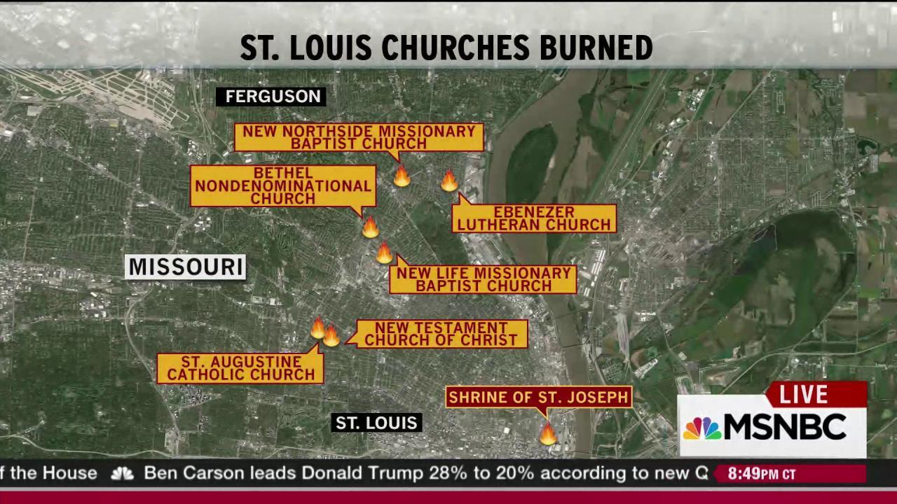 Seventh St. Louis church suffers arson attack
