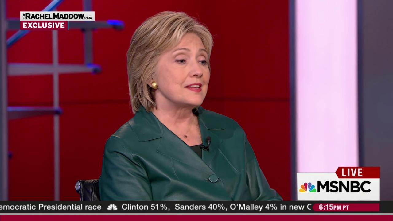Clinton on undoing her husband's policies