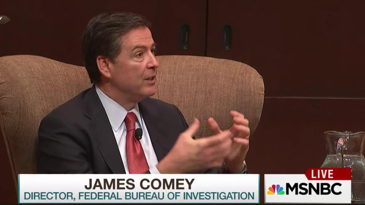 Comey connects police scrutiny to crime rates
