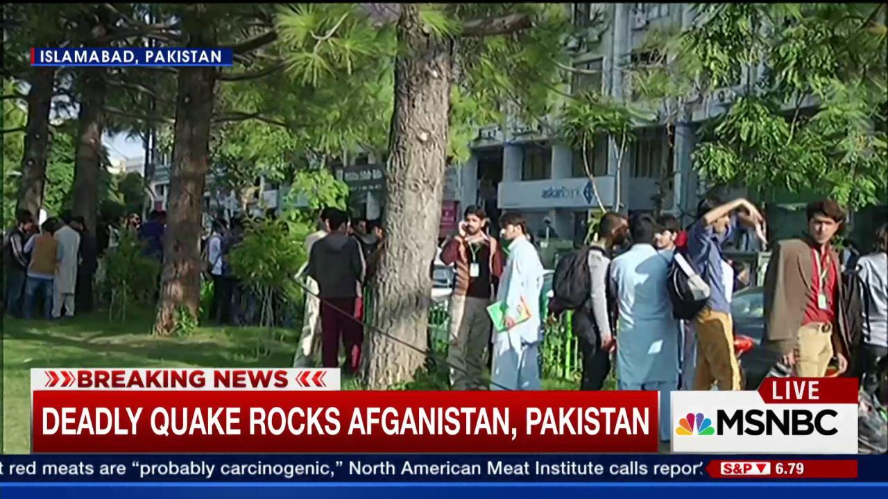 Afghan news station catches quake on air