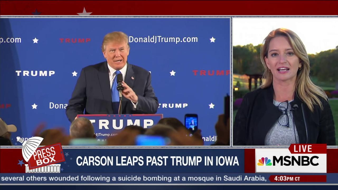Carson Leapfrogs Trump In Iowa Polls