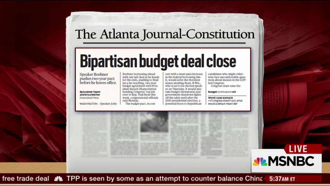 Congress, White House reach budget deal