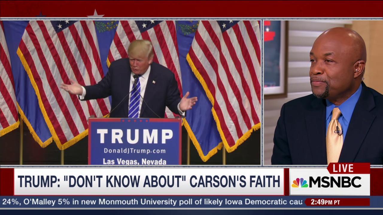 Trump Highlights Carson's Faith