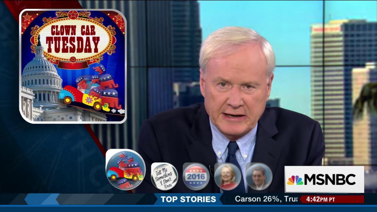 Clown Car Tuesday: Trump, Carson & Huckabee