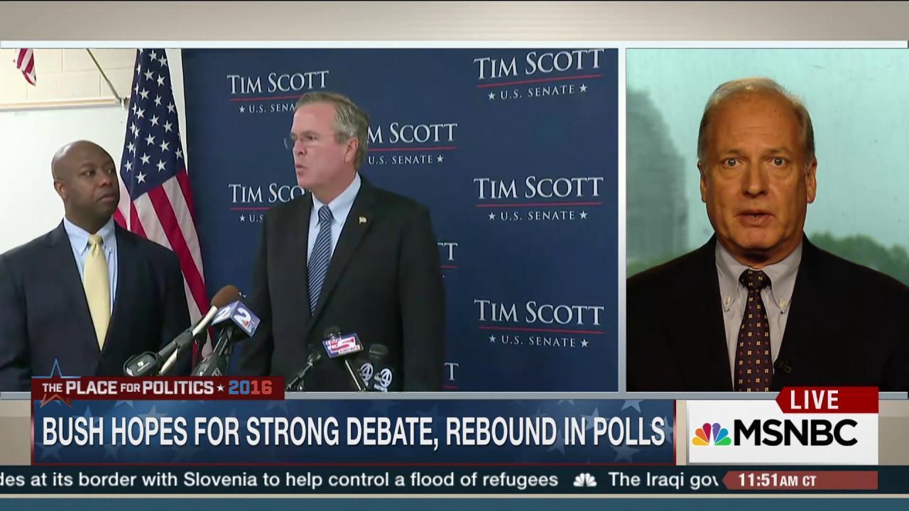 Bush hopes for a strong debate