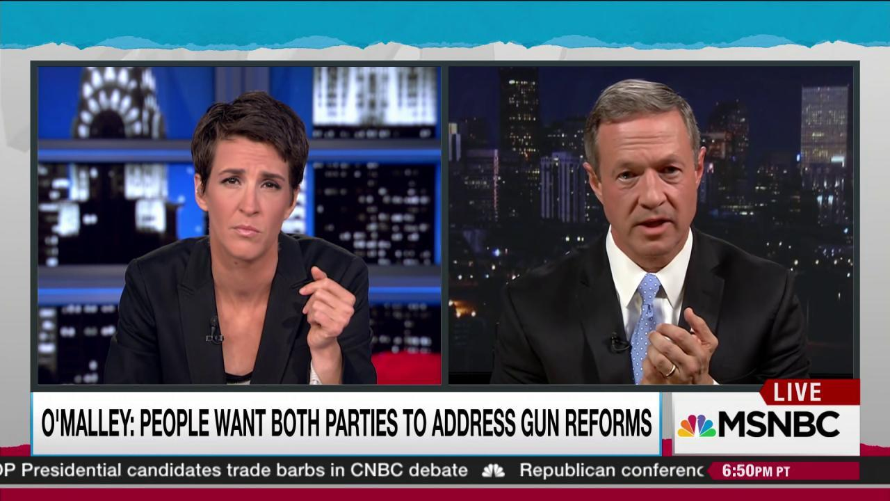 Martin O'Malley on how to beat the NRA