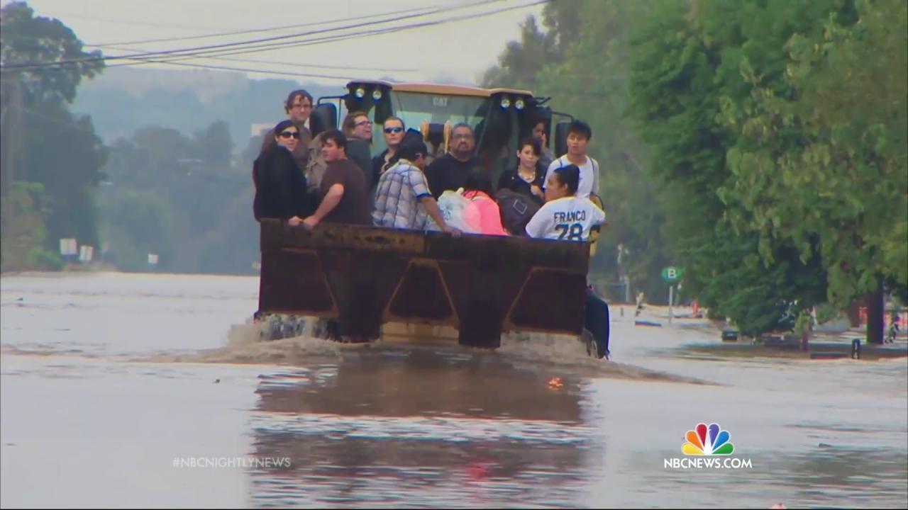 Massive Flooding and Torrential Rain Slam Central Texas