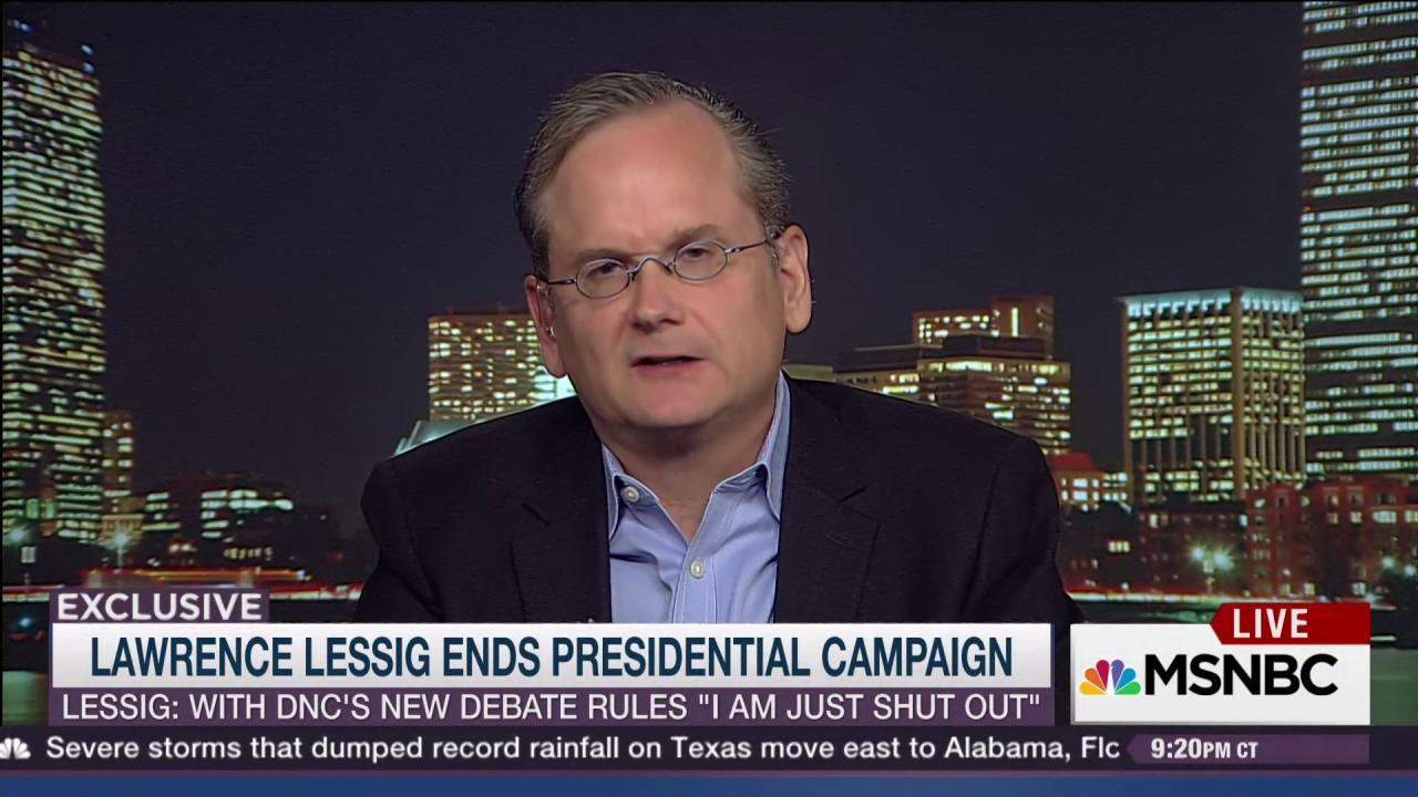 Lawrence Lessig on critical campaign issue