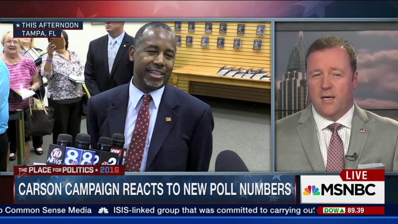 Carson reacts to new poll numbers