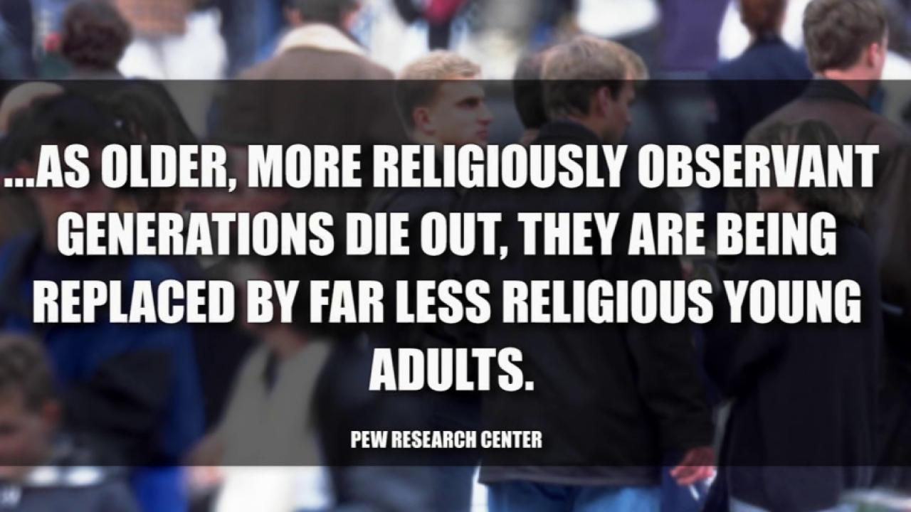 Study: Religion on the decline in US