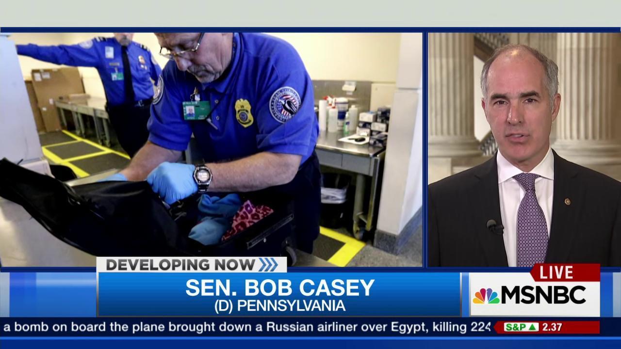 Sen. Casey: We have to be vigilant