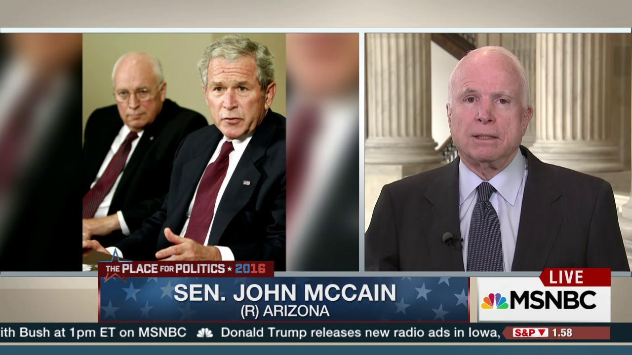 Sen. McCain: 'I agree with Bush 41'