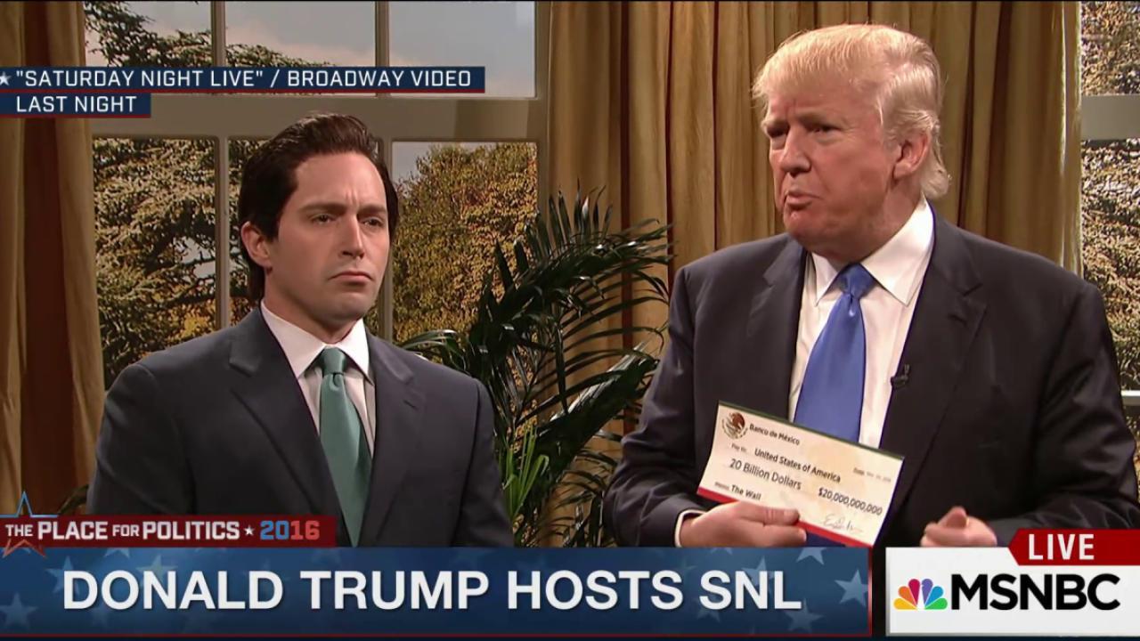 Trump hosts a 'safe' Saturday Night Live