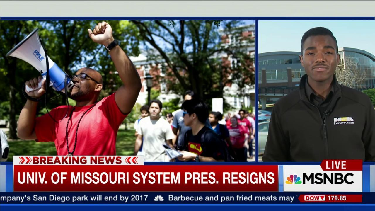 U. of Missouri student pres. on racial issues