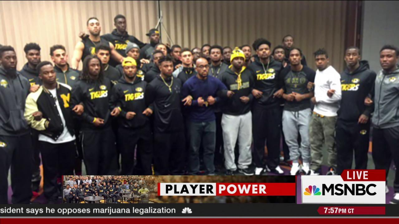 Football team helps take down college...