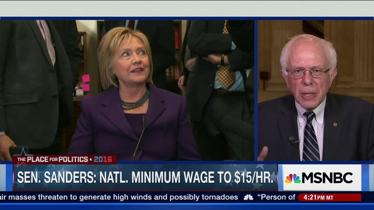 Sanders on why Clinton is wrong on min wage