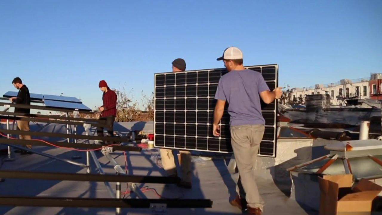 Solar energy takes on New York City