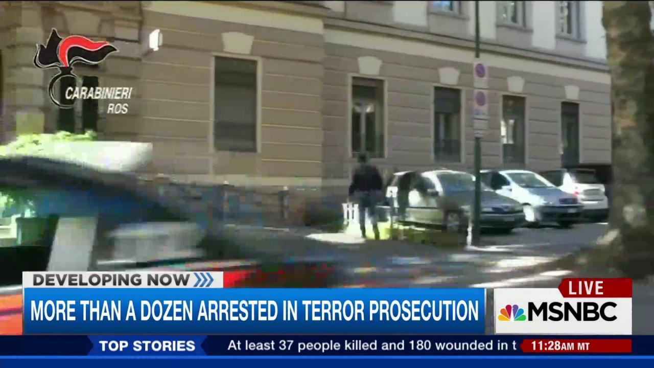 Officials conduct terror sweep across Europe