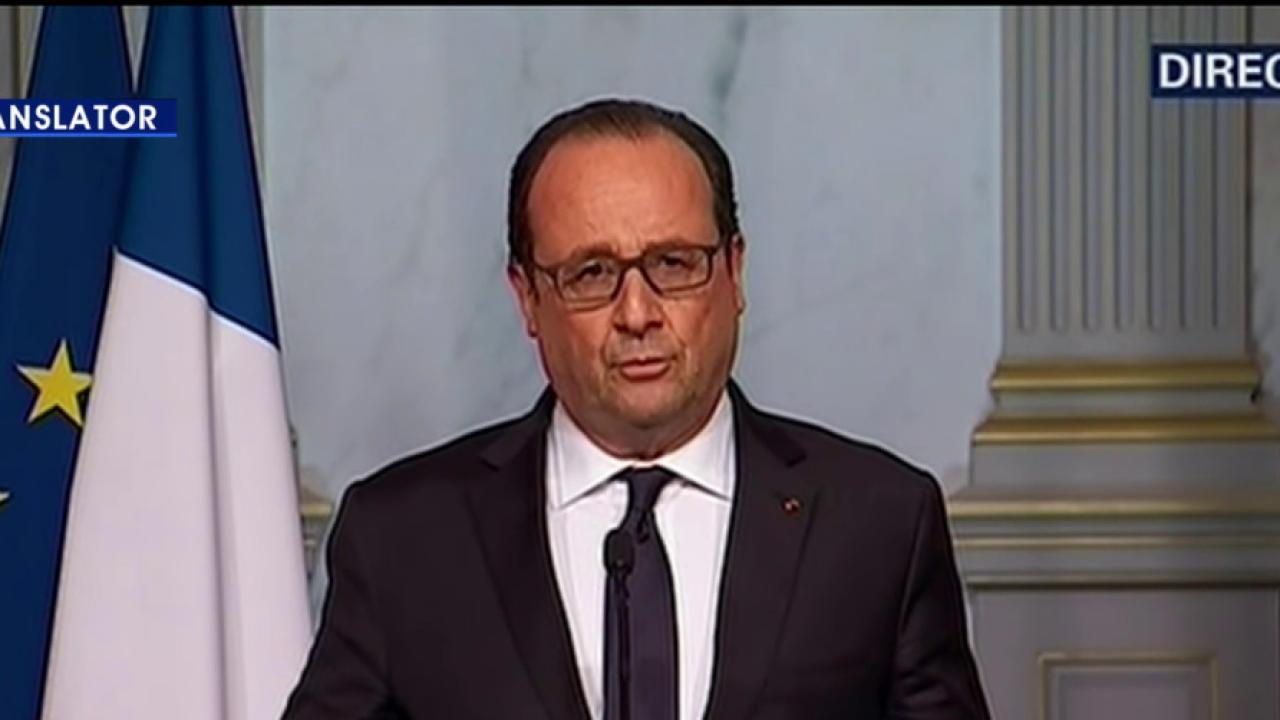 Hollande: Military being deployed around...