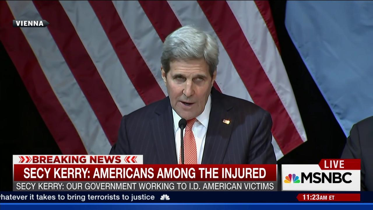 Secy. Kerry calls for ceasefire in Syria