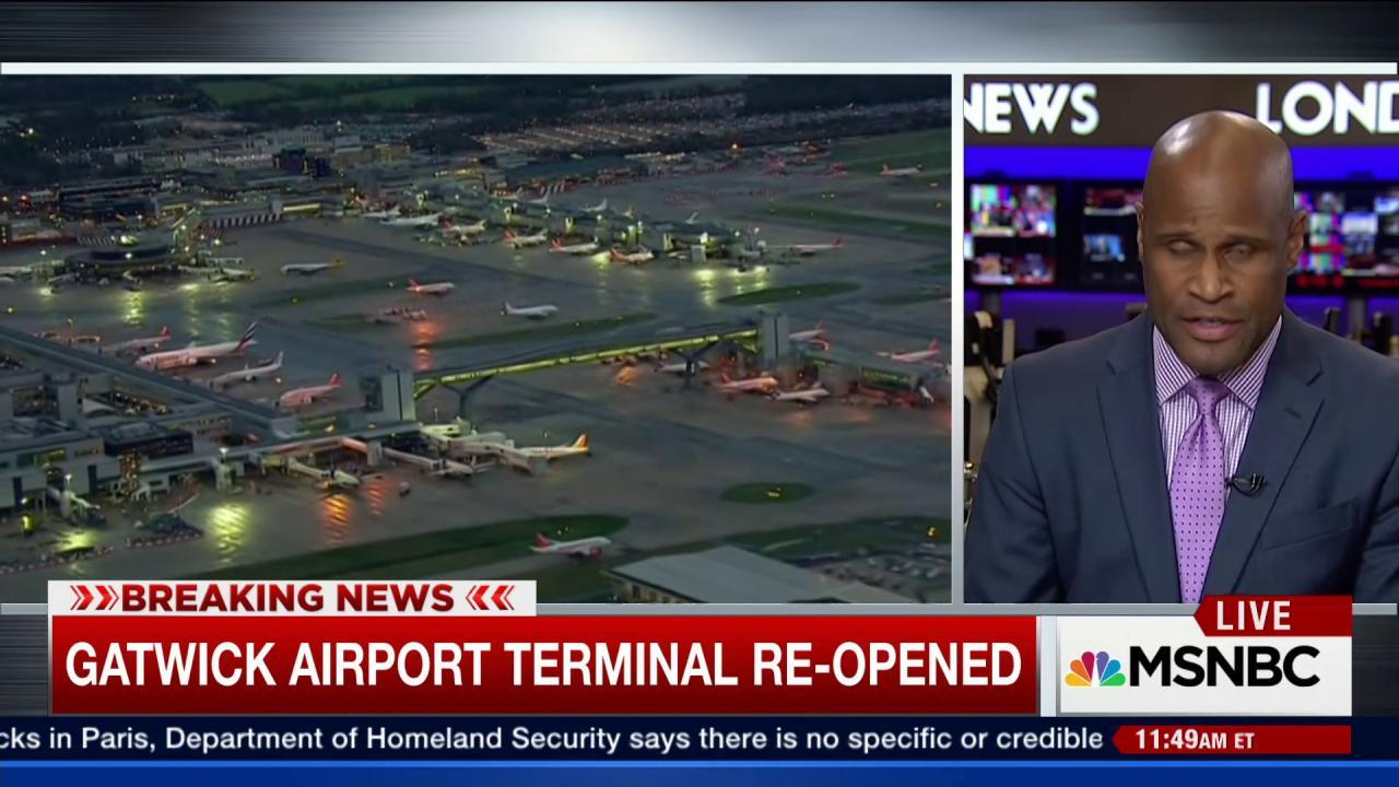 Gatwick Airport re-opened