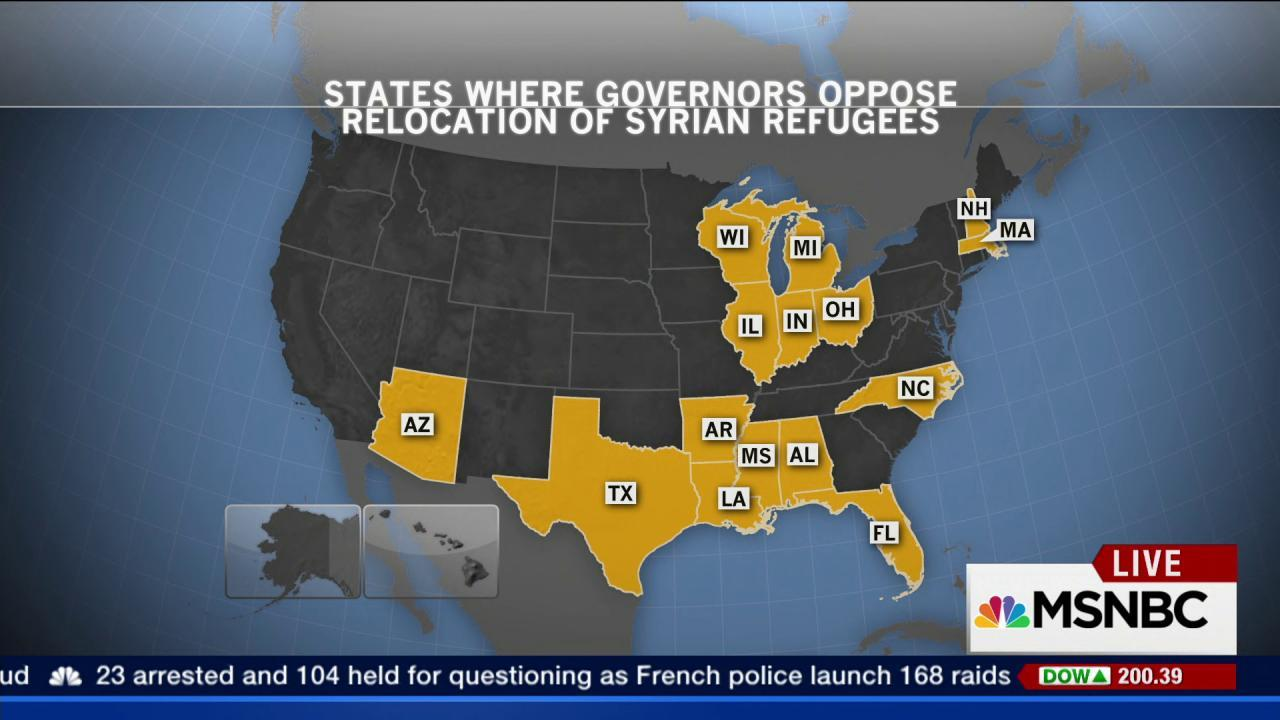 US governors are pushing to block refugees
