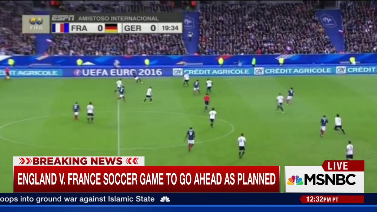 England v. France soccer game to go ahead