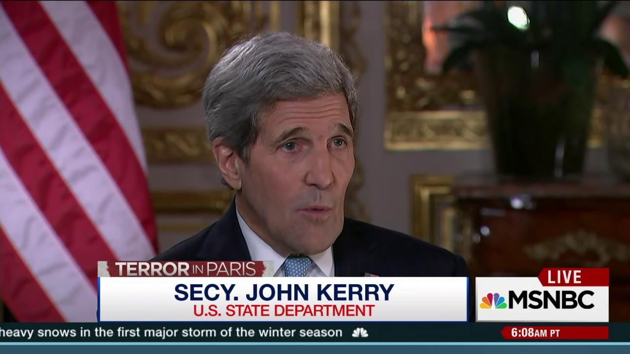 Kerry: We must step up our efforts