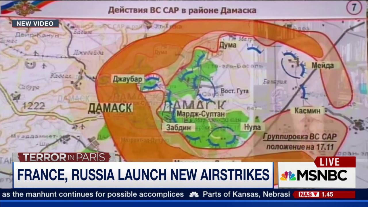 Russian and French warplanes pound ISIS
