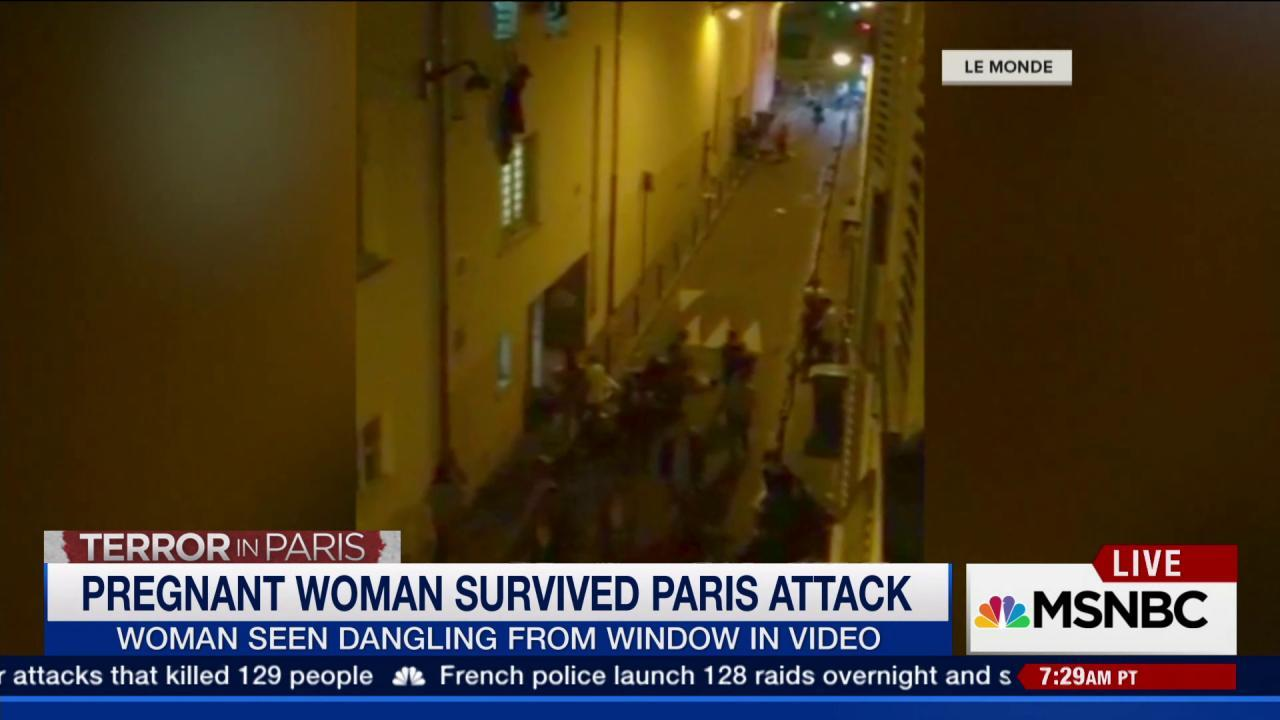 Pregnant woman rescued in Paris attacks