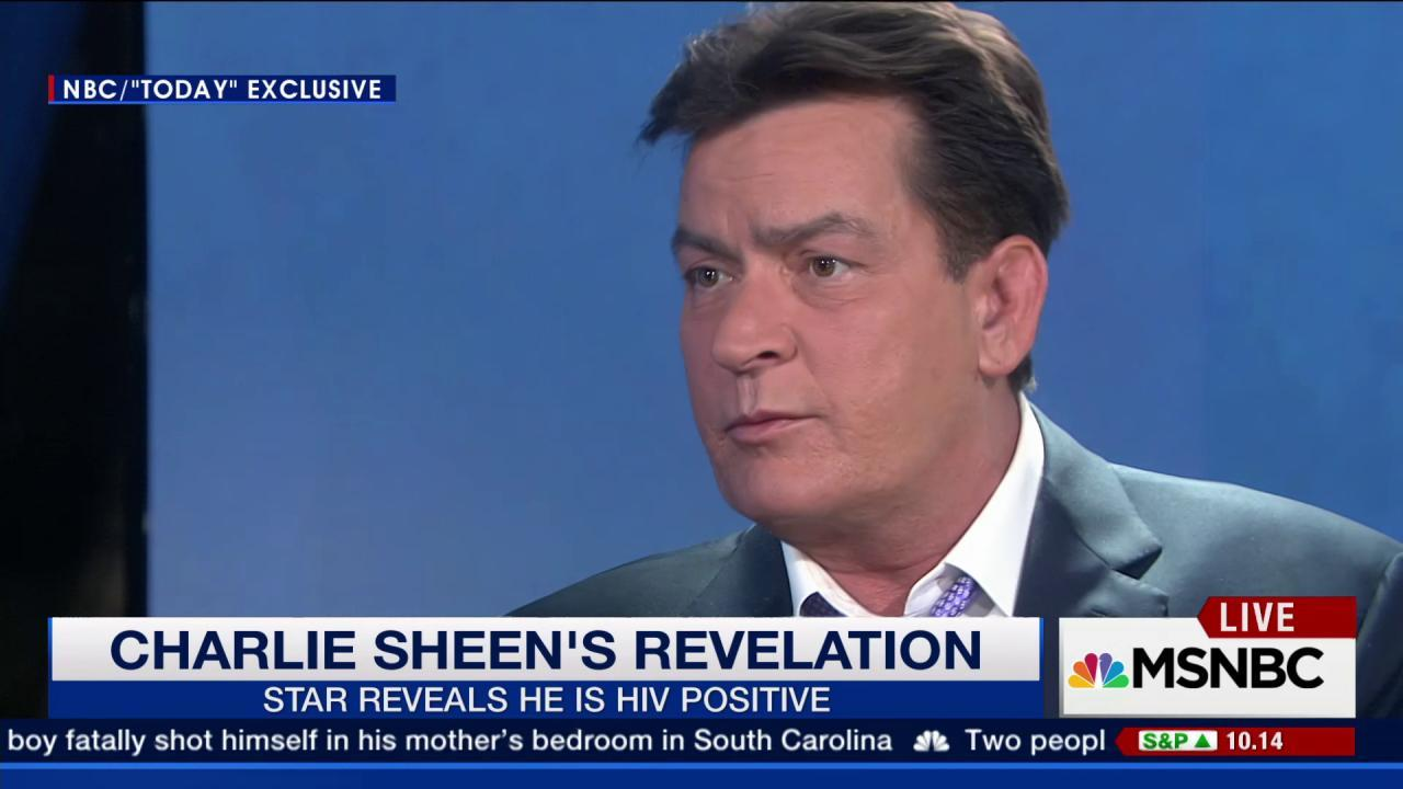 Charlie Sheen: I am HIV-positive