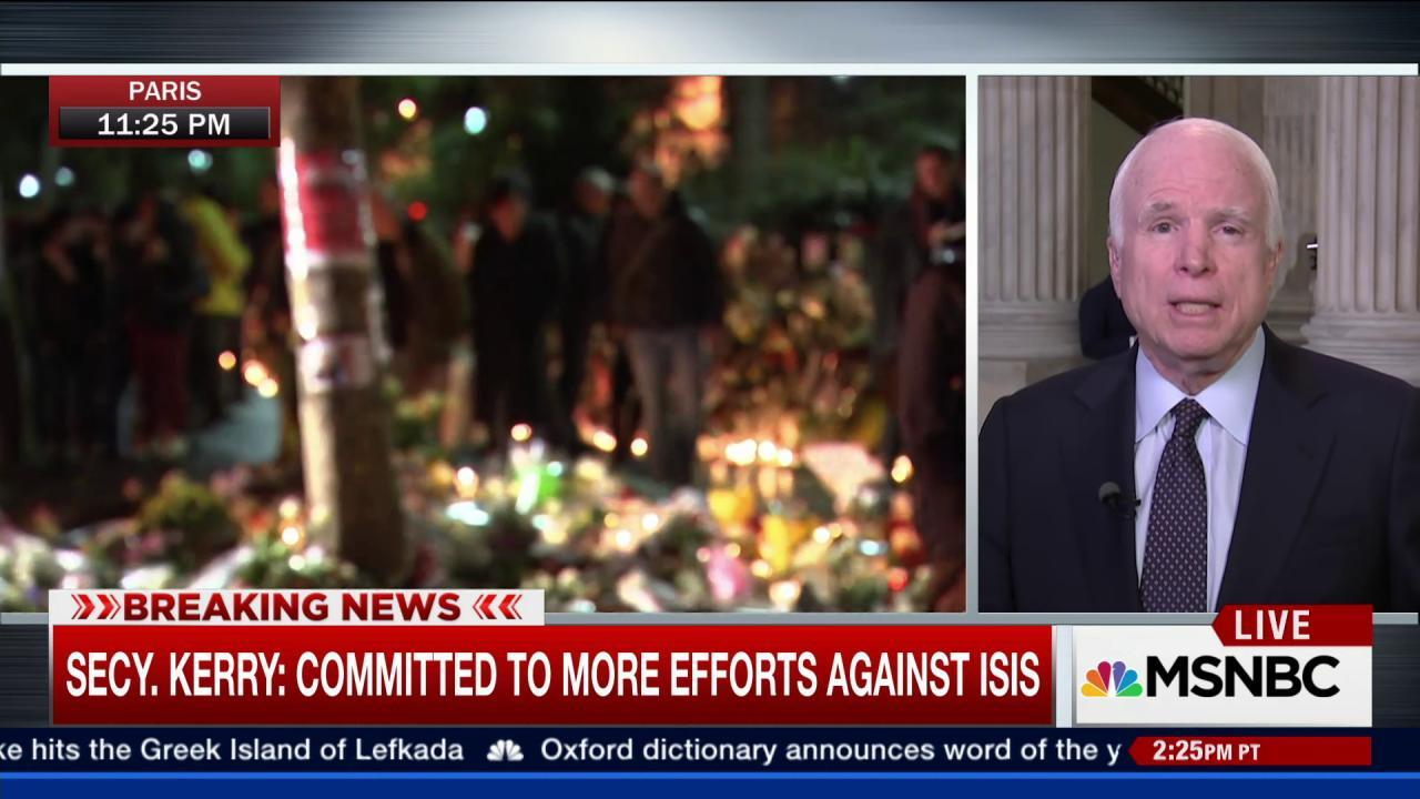 McCain: Paris Attacks a 'Wake-Up Call'