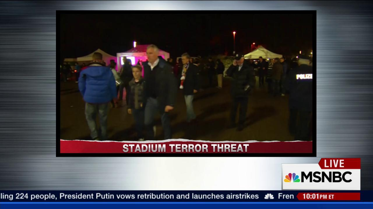 German stadium evacuated after threat