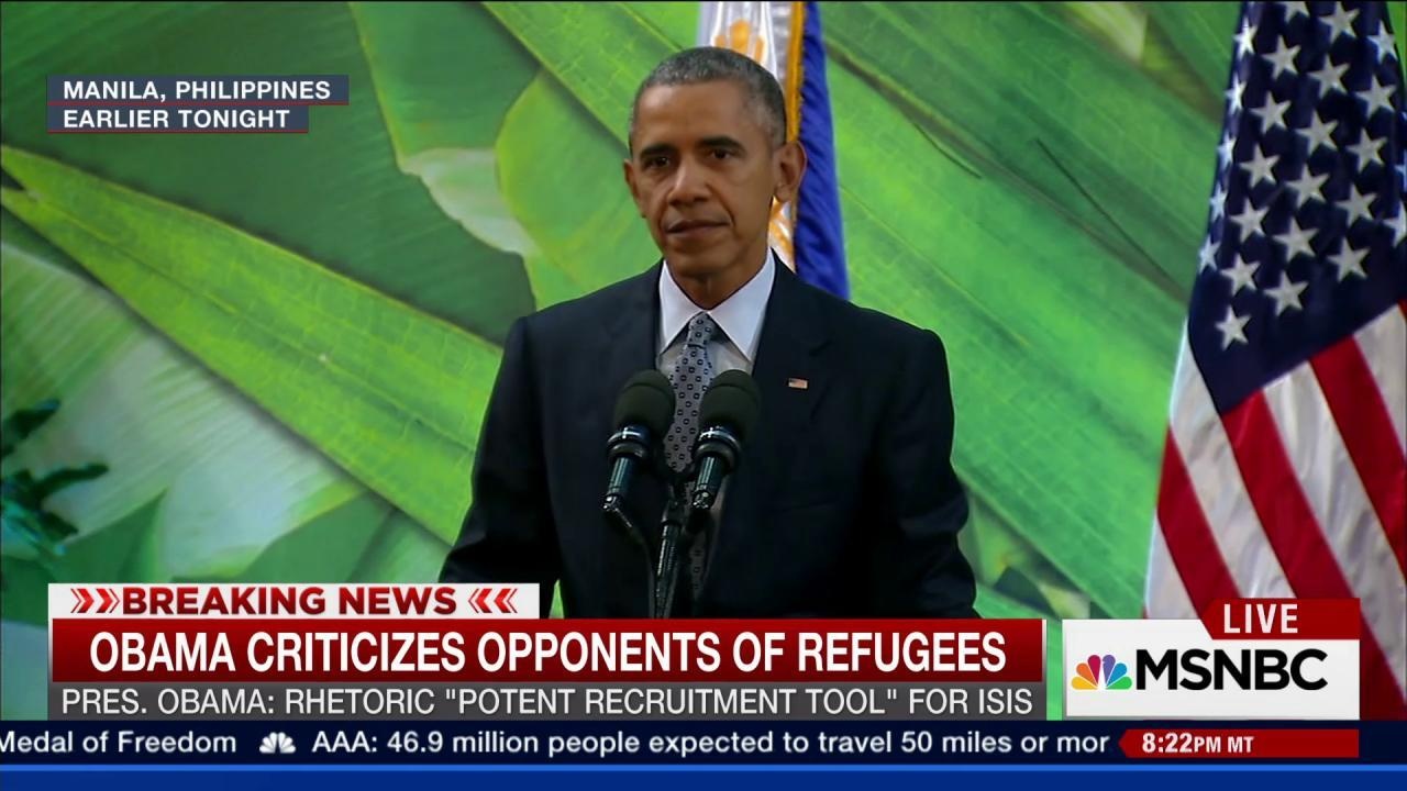 Pres. Obama comments on Syrian refugee debate