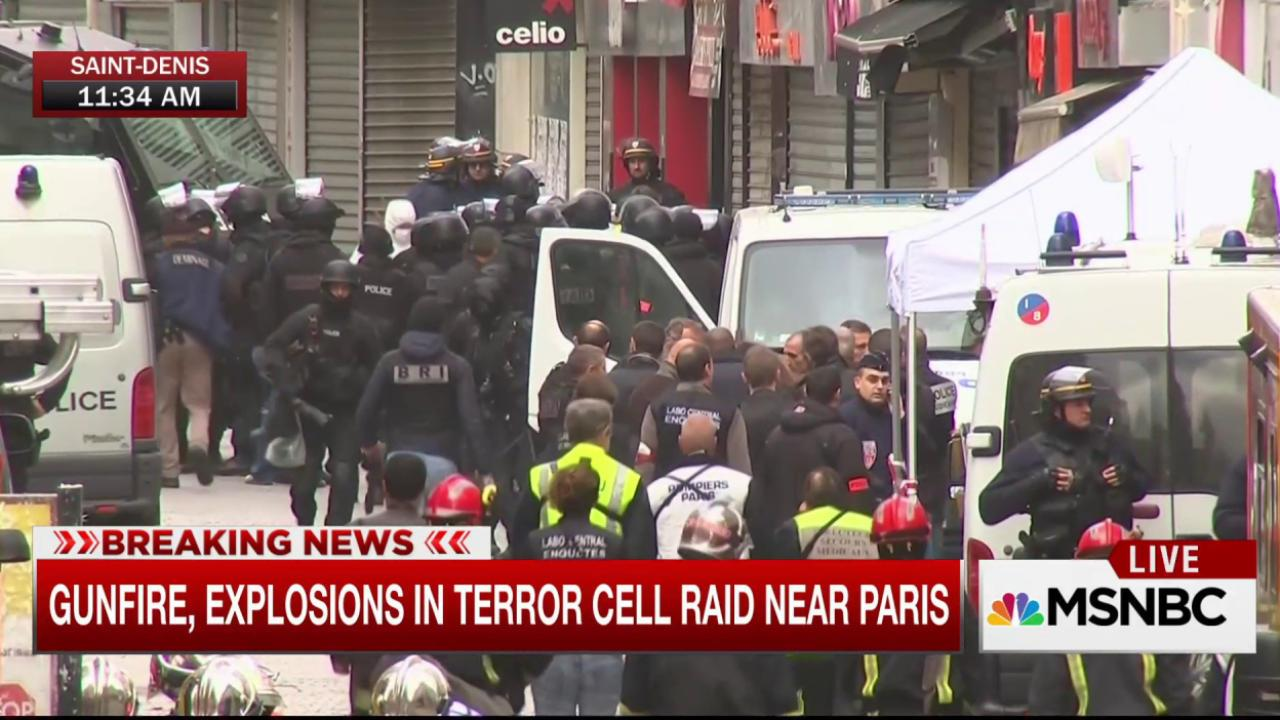 Gunfire, explosions in terror raid near Paris